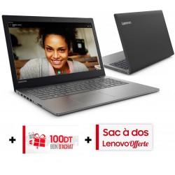 Pc Portable Lenovo IdeaPad 330-15ICH / i7 8è Gén / 8 Go / Gris + SIM Orange 30 Go + Bon d'achat 100dt + Sac à Dos Lenovo