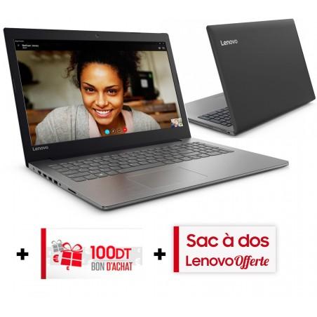 Pc Portable Lenovo IdeaPad 330-15ICH / i7 8è Gén / 12 Go / Gris + SIM Orange 30 Go + Bon d'achat 100dt + Sac à Dos Lenovo
