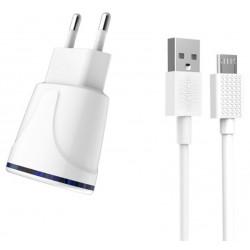 Chargeur Secteur KINGLEEN C830E 2x USB 2.1A / Blanc