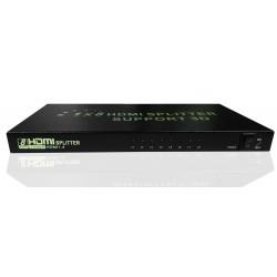 Splitter HDMI 8 ports Full HD 1080P 3D