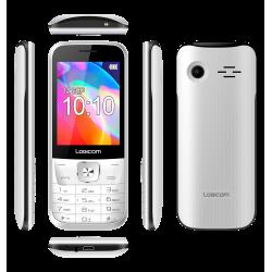 Téléphone Portable Logicom Posh 280 / Double SIM / Blanc + SIM Offerte