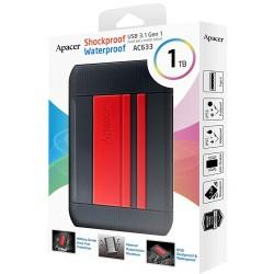 Disque Dur Externe Antichoc Apacer AC633 / 1 To / USB 3.1 / Rouge