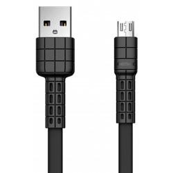 Câble Plat Remax USB vers Micro USB / Noir