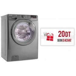 Machine à laver automatique Hoover 9 Kg / Silver + Bon d'achat 20 Dt