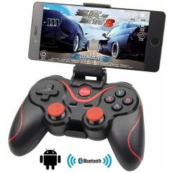 Manette de jeu Bluetooth Sans Fil avec support de Smartphone T-3