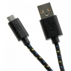 Câble USB Vers Micro USB / 1M / Noir