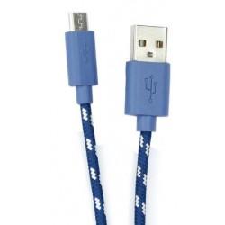 Câble USB Vers Micro USB / 1M / Bleu