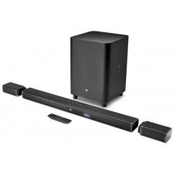Barre de son JBL Bar 5.1 canaux Ultra HD 4K avec des enceintes de son surround sans fil