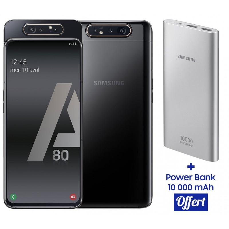 Samsung Galaxy A80 / Noir + Power Bank 10 000 mAh Offert...