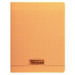 Cahier piqué Calligraphe 8000 POLYPRO 17x22cm 96p séyès 90g / Orange