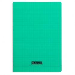 Cahier piqué Calligraphe 8000 POLYPRO 21x29,7cm 96p séyès 90g / Vert