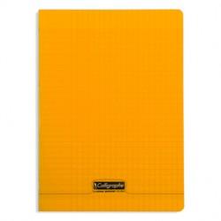 Cahier piqué Calligraphe 8000 POLYPRO 21x29,7cm 96p séyès 90g / Orange