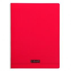Cahier piqué Calligraphe 8000 POLYPRO 24x32cm 96p séyès 90g / Rouge