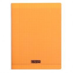 Cahier piqué Calligraphe 8000 POLYPRO 24x32cm 96p séyès 90g / Orange