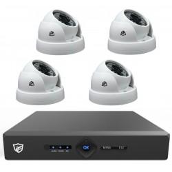 Kit DVR JFtech 4 canaux + 4 Caméras Dômes 2MP