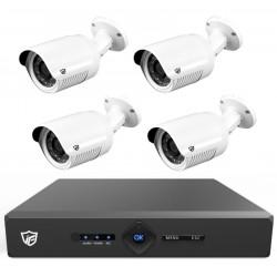 Kit DVR JFtech 4 canaux + 4 Caméras Externes 4MP