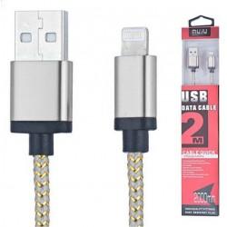 Câble MUJU MJ-30I USB vers Lightning 2M / Silver