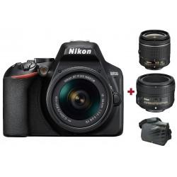 Réflex Numérique Nikon D3500 + Objectif AF-P DX NIKKOR 18-55mm + AF-S NIKKOR 50mm f/1.8G + Sacoche