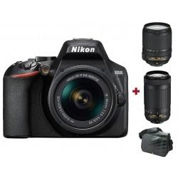 Réflex Numérique Nikon D3500 + Objectif AF-S DX NIKKOR 18-140mm + AF-P DX NIKKOR 70-300mm + Sacoche