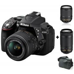 Réflex Numérique Nikon D5300 + Objectif Nikkor 18-140mm + Objectif Nikkor 70-300MM + Sacoche