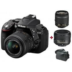 Réflex Numérique Nikon D5300 + Objectif AF-P DX NIKKOR 18-55mm + AF-S NIKKOR 50mm f/1.8G + Sacoche