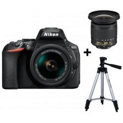 Réflex Numérique Nikon D5600 + Objectif AF-P DX NIKKOR 10-20mm f/4.5-5.6G VR + Trépied