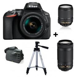 Réflex Numérique Nikon D5600 + Objectif Nikkor 18-140mm + AF-P DX NIKKOR 70-300mm + Sacoche + Trépied