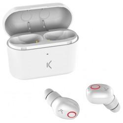 Écouteurs Sans Fil Ksix Free Pods avec Micro / Blanc
