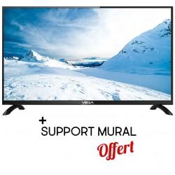 """Téléviseur VEGA 40"""" HD LED / Noir + Support mural Offert + SIM Orange Offerte (60 Go)"""
