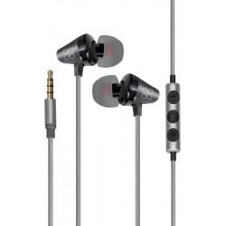 Écouteurs stéréo intra-auriculaires universels avec micro Promate Clavier / Noir