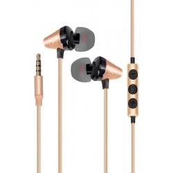 Écouteurs stéréo intra-auriculaires universels avec micro Promate Clavier / Gold