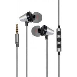 Écouteurs stéréo intra-auriculaires universels avec micro Promate Clavier / Gris