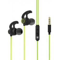 Écouteurs stéréo intra-auriculaires avec micro Promate Swift / Vert