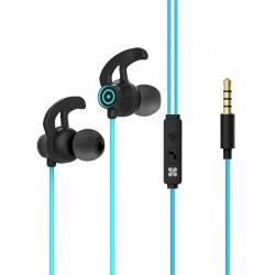 Écouteurs stéréo intra-auriculaires avec micro Promate Swift / Bleu