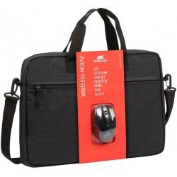 "Sacoche pour PC portable 15.6"" Riva 8038 + Souris sans fil"