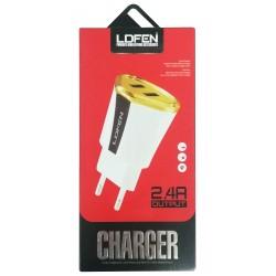 Chargeur Secteur LDFEN HUT12 V8 2x USB 2.4A / Blanc