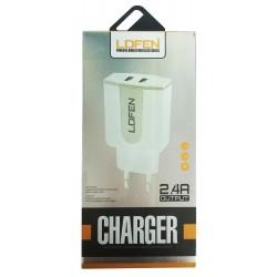 Chargeur Secteur LDFEN HUT18 V8 2x USB 2.4A / Blanc