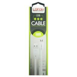 Câble LDFON XUD8 V8 USB vers Micro USB 2.1A / Blanc