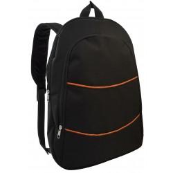 """Sac à Dos pour Pc Portable 15.6"""" / Noir & Orange"""