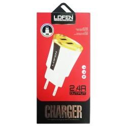 Chargeur Secteur LDFEN HUT12 2x USB vers Lightning 2.4A / Blanc