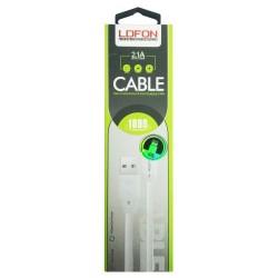 Câble LDFON XUD8 USB vers Lightning 2.1A / Blanc