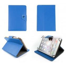 """Etui en cuir pour tablette 9"""" / Bleu"""