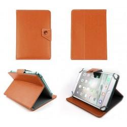 """Etui en cuir pour tablette 9"""" / Orange"""