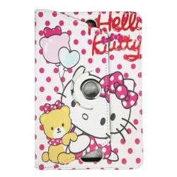 "Etui en cuir pour tablette 9"" / Hello Kitty"