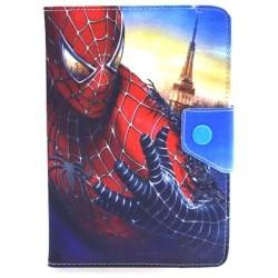 """Etui en cuir pour tablette 9"""" / Spider Man"""