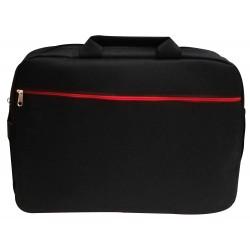 """Sacoche pour Pc Portable 15.6"""" / Noir & Rouge"""