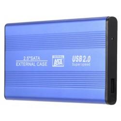 """Boitier Externe 2.5"""" HDD USB 2.0 / Bleu"""