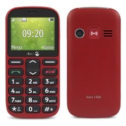 Téléphone Portable Doro 1360 / Double SIM / Rouge