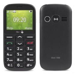 Téléphone Portable Doro 1360 / Double SIM / Noir