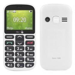 Téléphone Portable Doro 1360 / Double SIM / Blanc